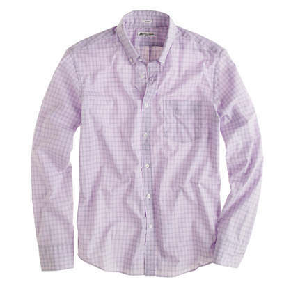 Slim washed Thomas Mason® for J.Crew slim shirt in violet windowpane check
