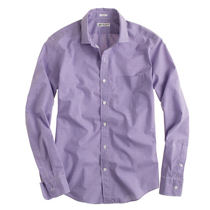 Thomas Mason® for J.Crew slim shirt in vivid grape microgingham
