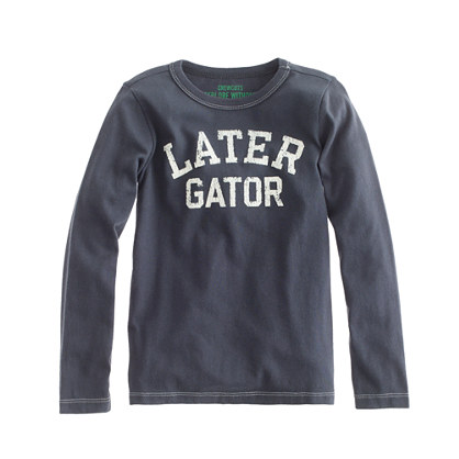 Boys' long-sleeve later gator tee