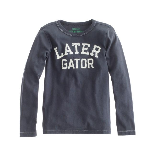Boys' long-sleeve later gator tee