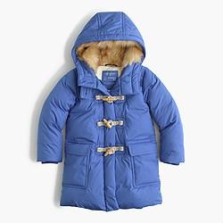 Girls' toggle puffer coat