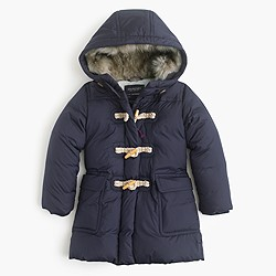 Girls' toggle puffer coat