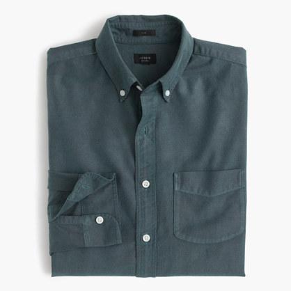 Slim vintage oxford shirt in tonal cotton