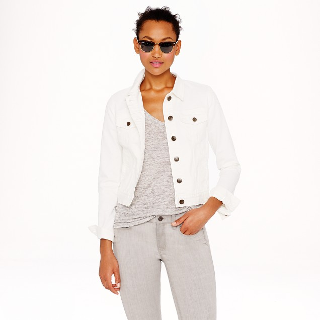 Nolita denim jacket in white