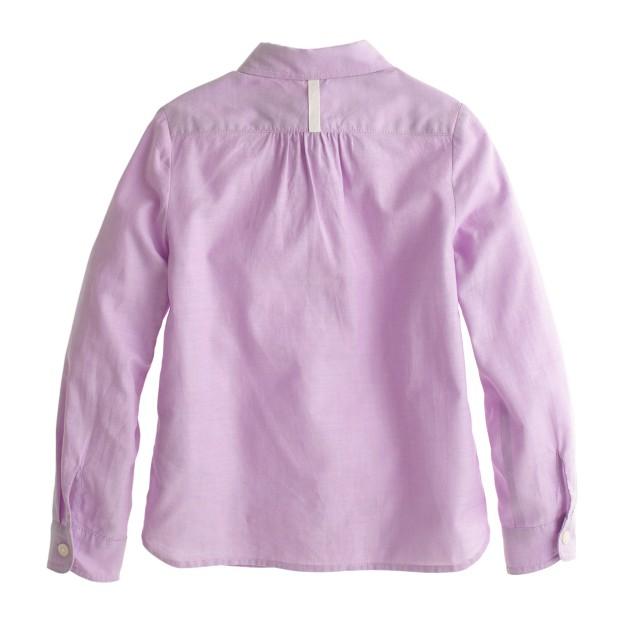 Girls' tissue oxford popover