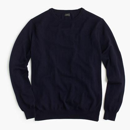 Tall merino wool crewneck sweater