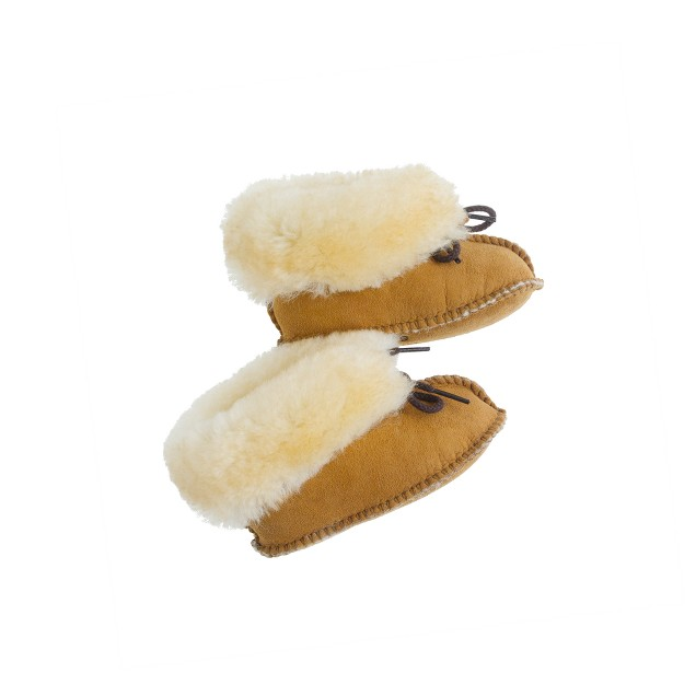 baby Minnetonka® tied shearling booties