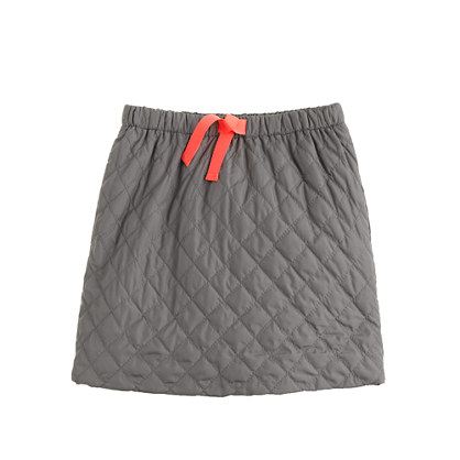 Girls' quilted puffer skirt