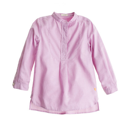Girls' tissue oxford tunic