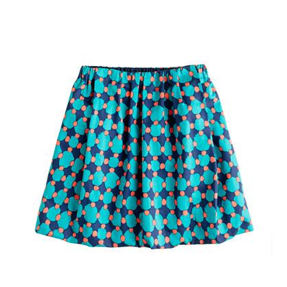 Girls' sateen bubble skirt in geometric dot