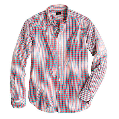 Slim Secret Wash shirt in multicolor check