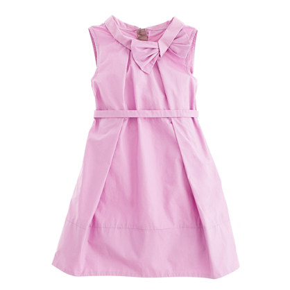 Girls' retro bow dress