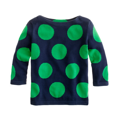 Girls' mega-dot sweater