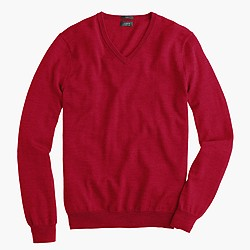 Slim merino wool V-neck sweater