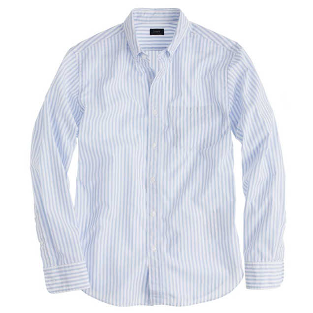 Secret Wash end-on-end shirt in parisian blue stripe