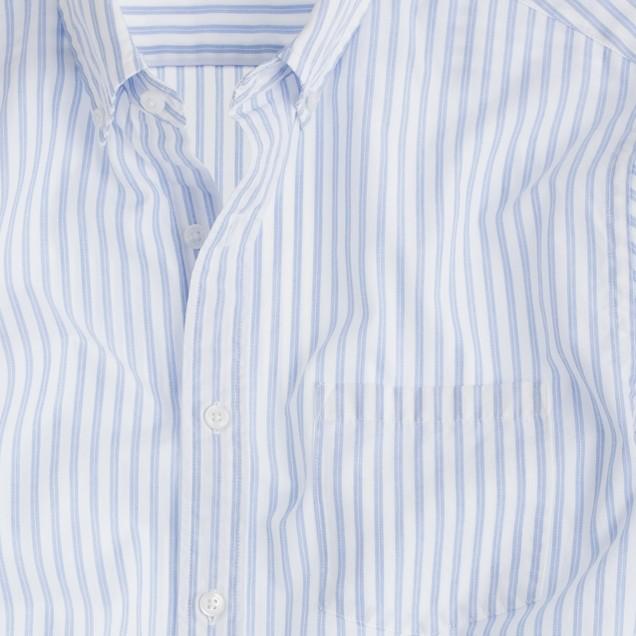 Secret Wash end-on-end shirt in parisian blue stripe