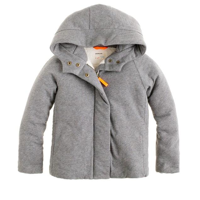 Girls' knit puffer jacket