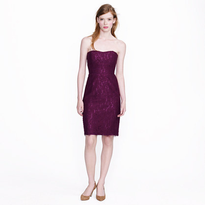 Strapless lace dress : Reception Dresses  J.Crew