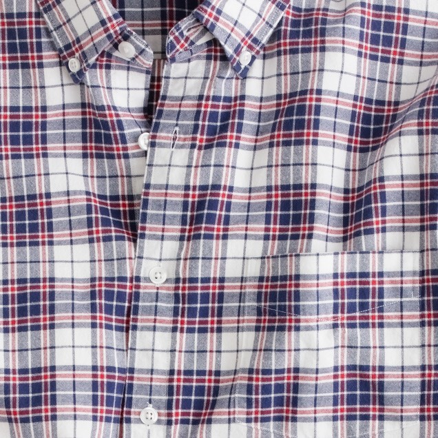 Oxford plaid shirt in royal navy