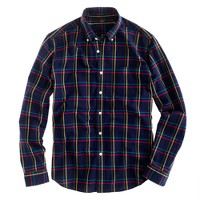 Oxford plaid shirt in royal indigo