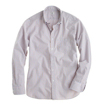 Secret Wash shirt in golden beach tattersall