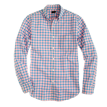 Slim Secret Wash shirt in multi-gingham