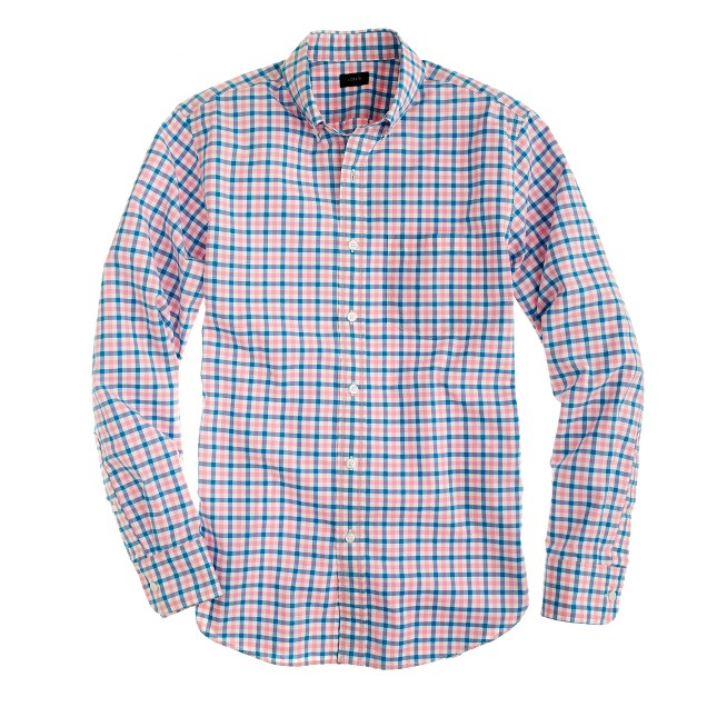 Tall Secret Wash shirt in multi-gingham