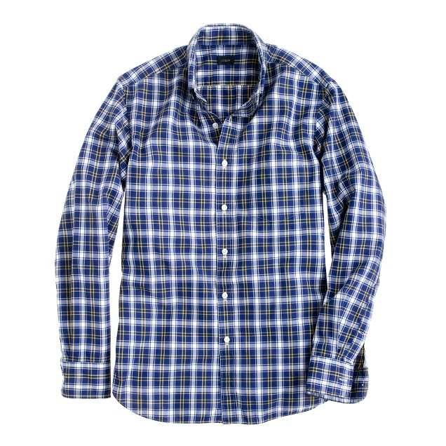 Secret Wash shirt in vintage navy check