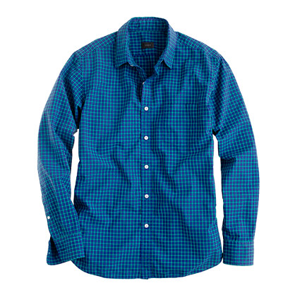 Secret Wash shirt in wild blueberry check