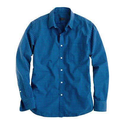 Secret Wash shirt in wild blueberry check