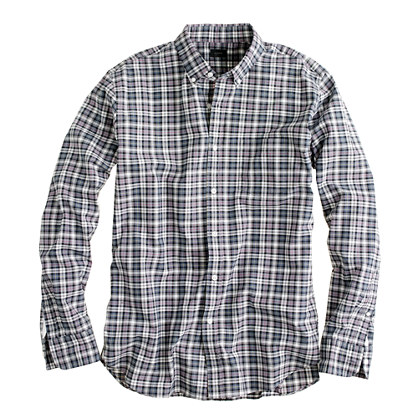 Secret Wash shirt in black plaid