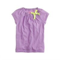 Girls' elastic bow tee