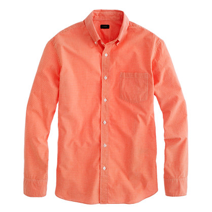 Secret Wash shirt in bright gingham