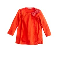 Girls' pleated bow top