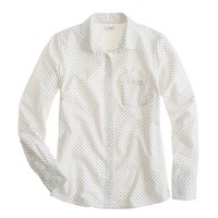 Oxford boy shirt in polka dot