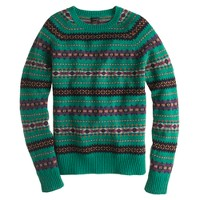 Alpine Fair Isle sweater in heather emerald