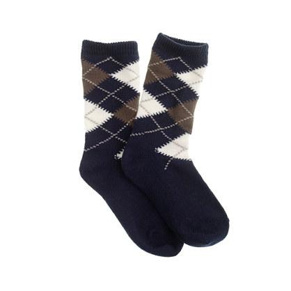 Boys' cotton argyle socks