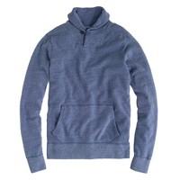 Vintage fleece shawl-collar pullover