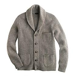Lambswool three-pocket cardigan sweater