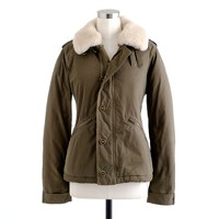 Collection shearling-trim bomber jacket