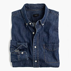 Slim midweight denim shirt