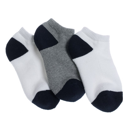 Boys' sport ankle socks three-pack