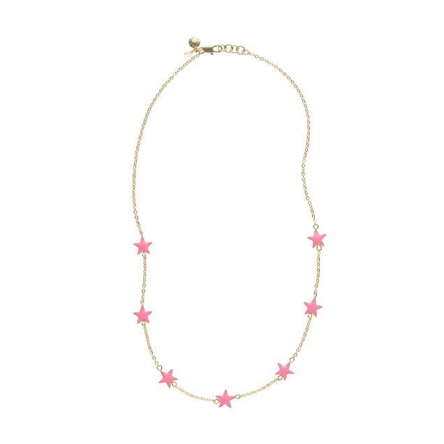 Girls' bright stars necklace