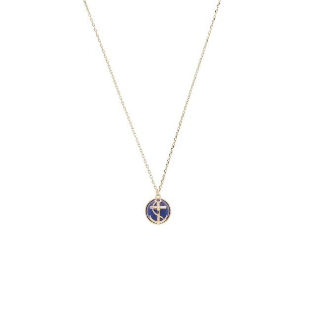 Anchor bead pendant necklace