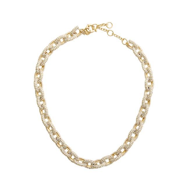 Classic pavé link necklace