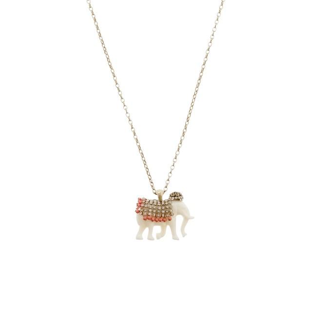 Jeweled elephant pendant necklace