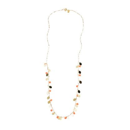 Shaky enamel disc necklace