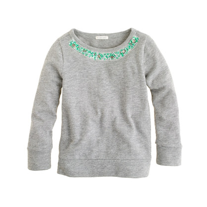 Girls' bejeweled sweatshirt