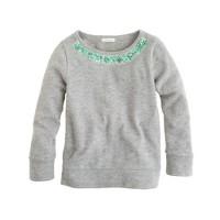 Girls' bejeweled sweatshirt