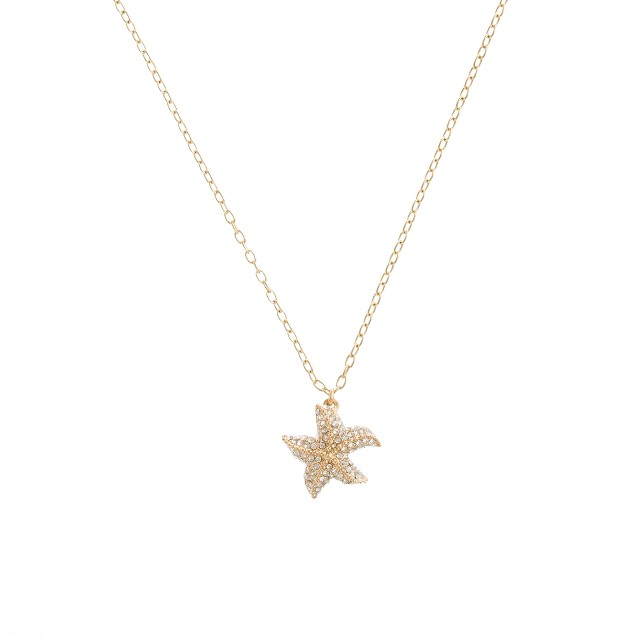 Crystal starfish necklace